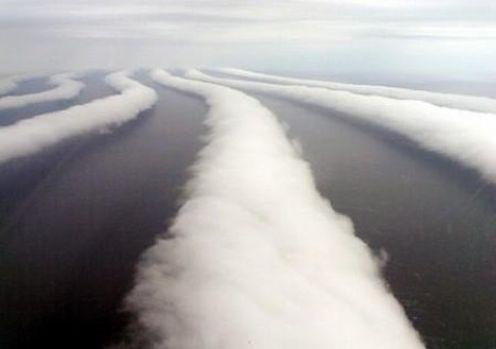 extraña formación nubosa